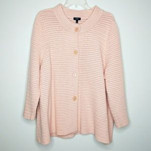 Talbot's Blush Pink Cozy Knit Plus Size Sweater